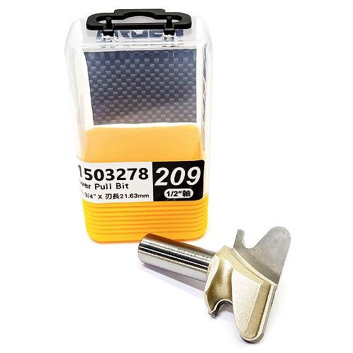 """#209 1/2""""x1-3/4""""x21.63mm Arden Drawer Pull Bit"""
