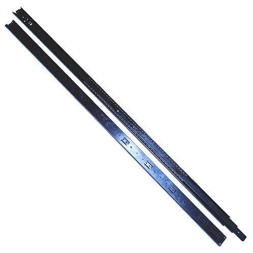 """48"""" (1200mm) Black Full Extension Drawer Slide"""