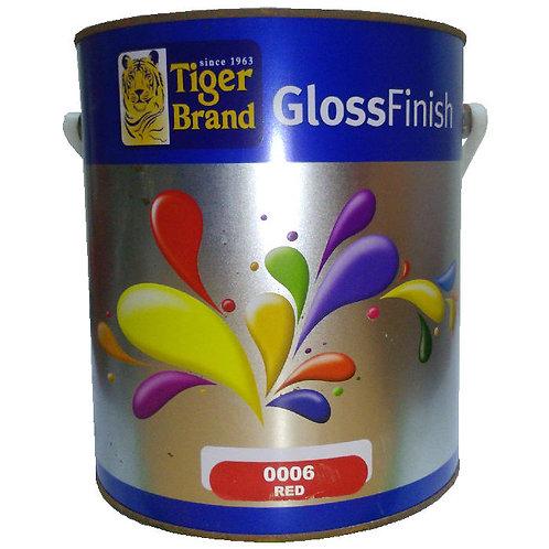 Tiger Brand GlossFinish 0006 Red 3.5L