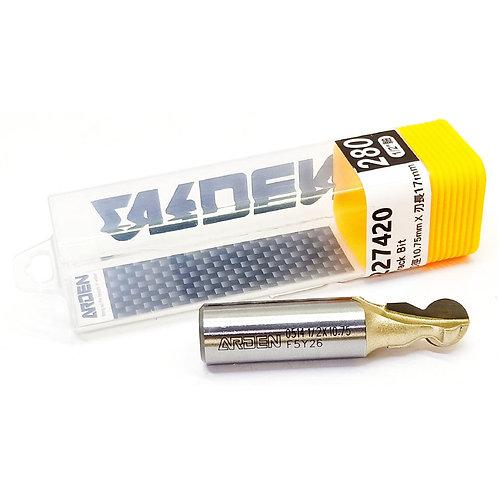 """#280 1/2""""x10.75mmx17mm Arden Track Bit"""