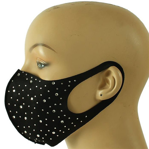 Rhinestone black mask