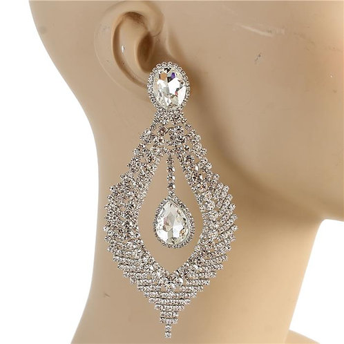 Rhinestone Chandelier Earring