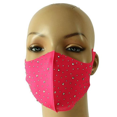 Rhinestone Pink Mask