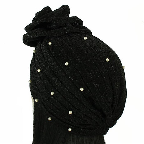 Fashion Pearl Turban Cap