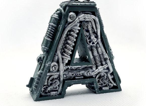Steampunk letter A