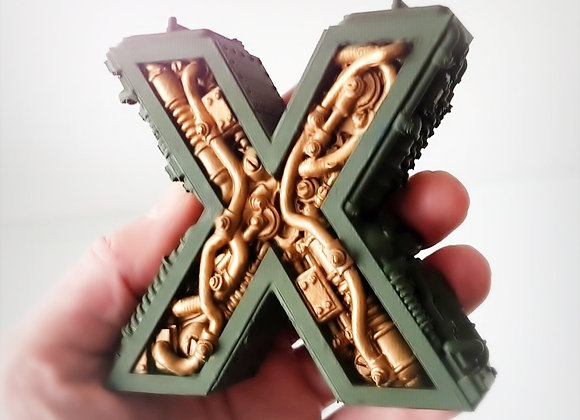 Steampunk letter X