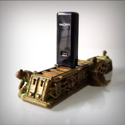 Steampunk USB holder.