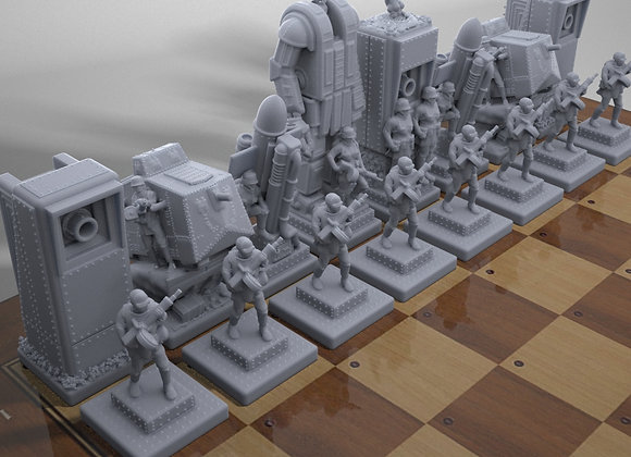 WWI steampunk chess game, German side