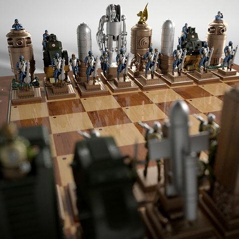 WW1 Steampunk Chess Game