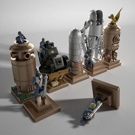 Steampunk Chess Game