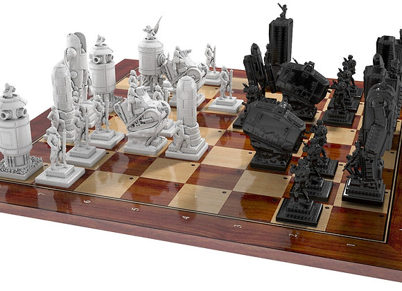 WWI steampunk chess game, French and German side