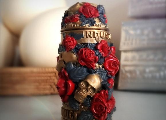 Box skull and roses