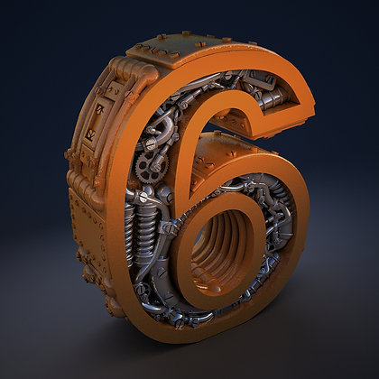 Steampunk number 6
