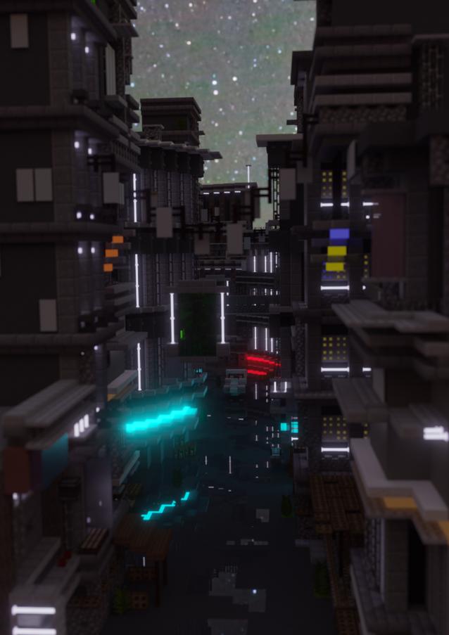 Cyberpunk Alley (Alternate Render)