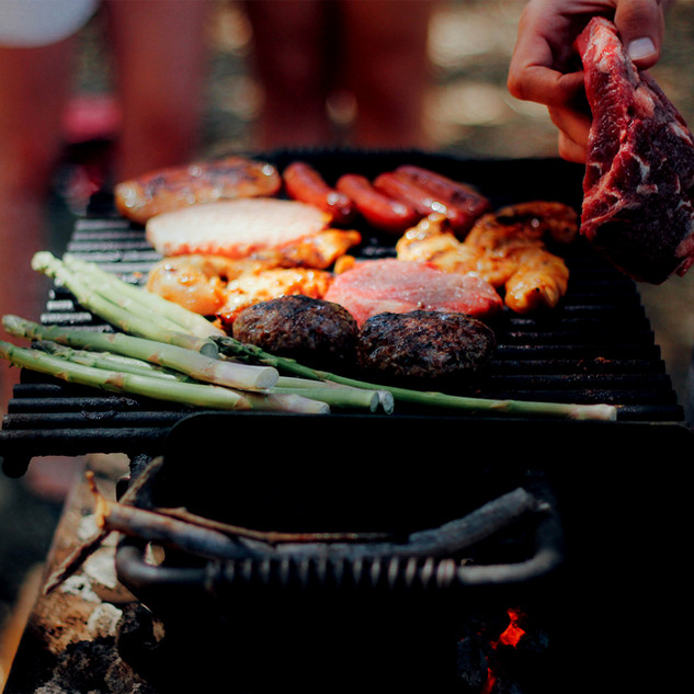 Barbecuing together
