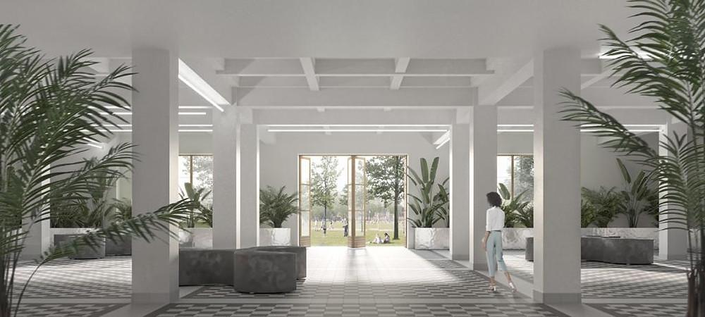 Проект холла первого этажа