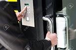 21362920-businessman-entering-safe-code-