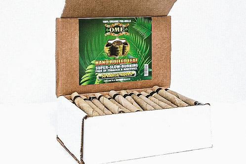 Palm Leaf Natural Pre Rolled Leaf Wraps 100% Tobacco Free- 50 Wraps