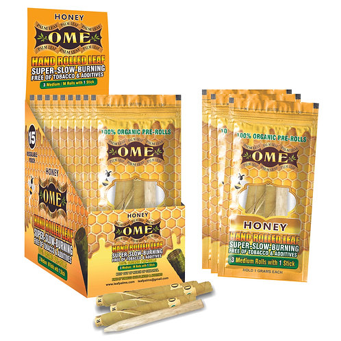 Box of  45 Wraps Honey Flavored