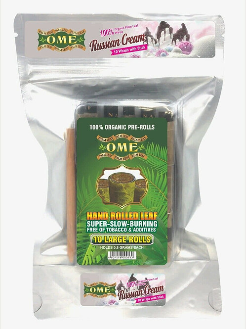 Palm Leaf Russian Cream Flavor- 10 Wraps
