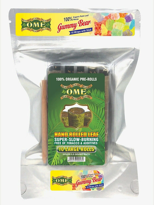 Palm Leaf Gummy Bears Flavored- 10 Wraps