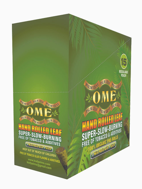 Pack Count 45 Wraps  OME natural Pre-rolls W