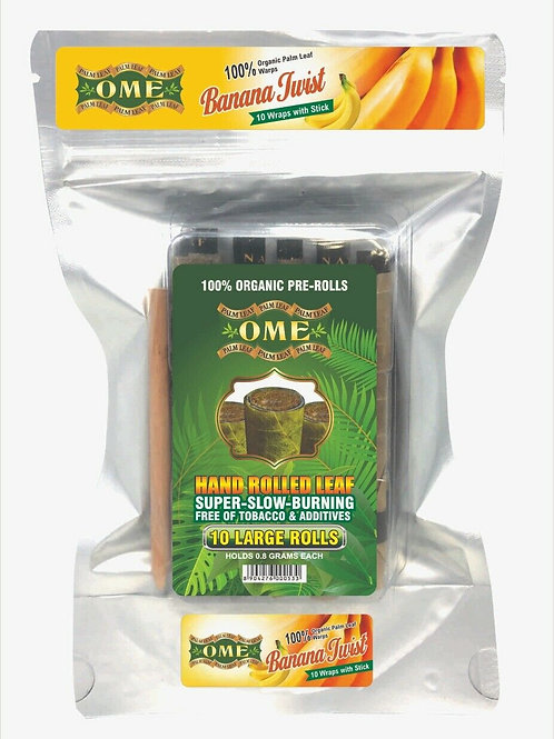 Palm Leaf Banana Twist Flavored- 10 Wraps