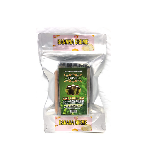 Palm leaf Banana Creme Flavored- 10 Wraps