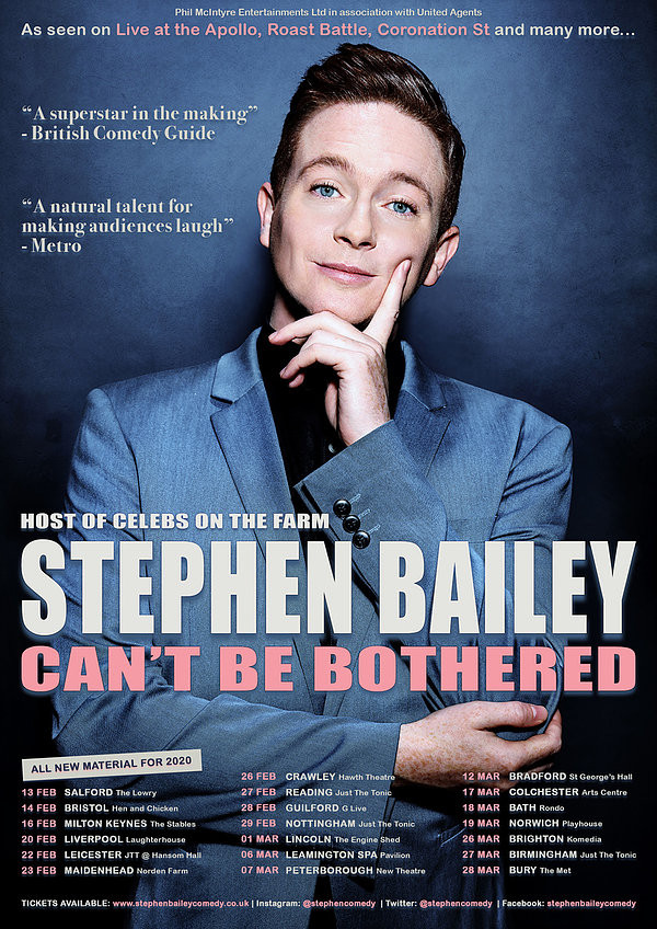 Stephen Bailey: Can't Be B