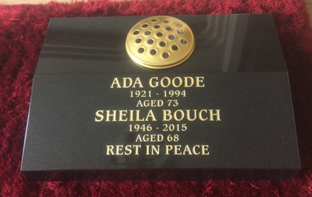 Memorial Cremation plaque with flower vase