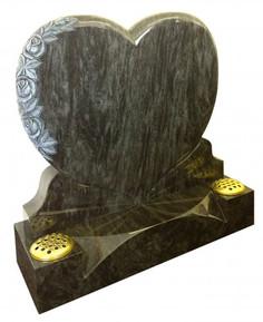 Heart Shaped memorial stone two flower vases