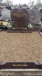 Heart shaped Memorial Head Stone