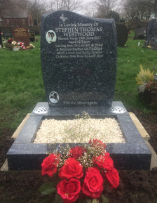 Memorial Head Stone with Kerb Stone