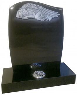 Sleeping Angel Memorial Stone with one flower vase