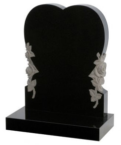 Heart Memorial Head Stone