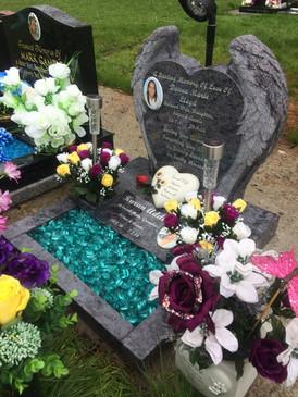 Angel Wings Memorial Stone