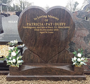Heart Shaped Head Stone, Meaningful Memorials