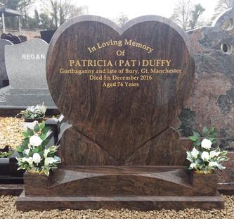 Heart Shaped Memorial Grave Stone