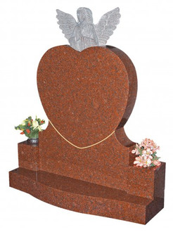 Heart and angel Memorial Head Stone