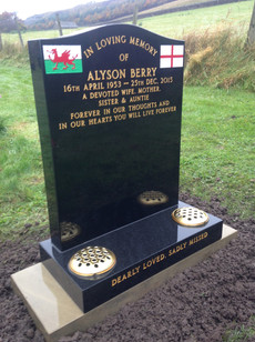 Head Stone with photo imagery