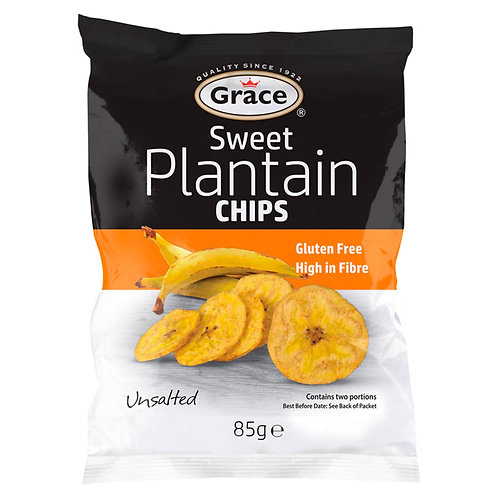 Grace Sweet Plantain Chips Unsalted 85g  #58618