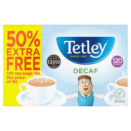 Tetley 50% Extra Free 80pk Decaf Tea Bags 250g #65456