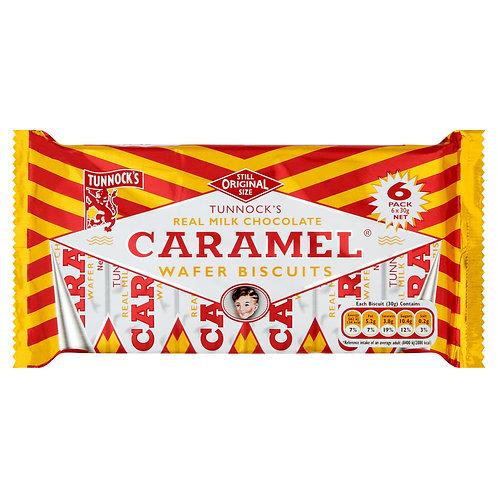 Tunnocks 6pk Milk Chocolate Caramel Wafer 180g  #52639