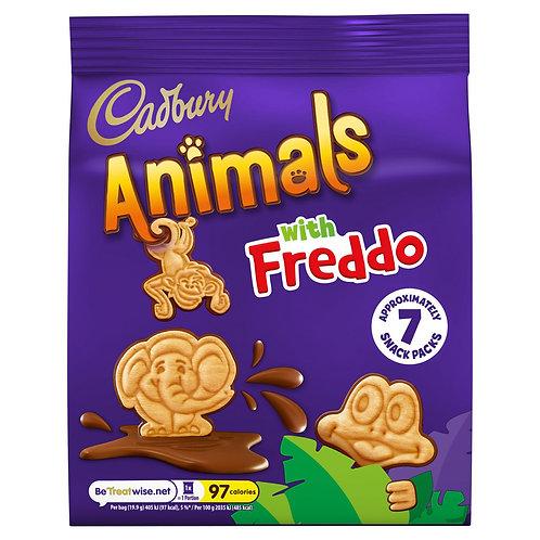 Cadbury Animals Mini Biscuits 7 Pack 139.3g #64725