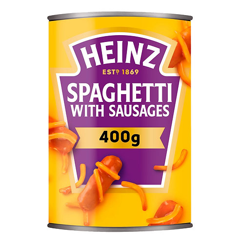 Heinz Spaghetti & Sausages 400g #12203