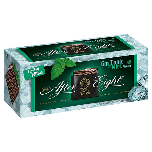 After Eight Mint Gin & Tonic Dark Chocolate Carton Box 200g #82066