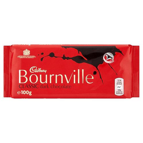 Cadbury Bournville Classic Dark Chocolate Bar 100g #57211