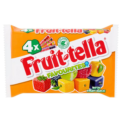Fruittella 4pk Chewy Sweets Mix  186g #33278