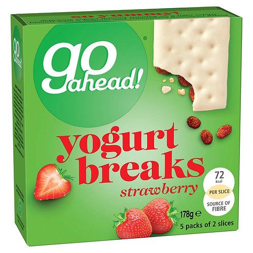 Go Ahead! Yogurt Breaks Strawberry Biscuits Bars 5 Pack (178g) #56523