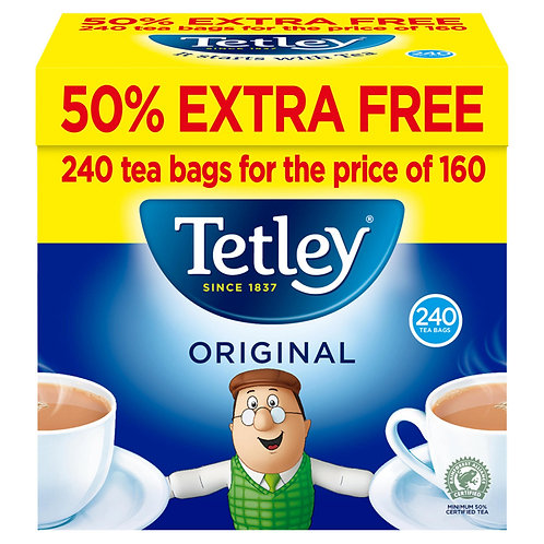 Tetley 50% Extra Free 160p Tea Bags  #58080